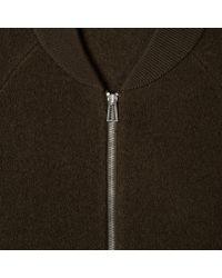 Paul Smith Multicolor Men's Khaki Boiled Wool Zip-front Cardigan for men
