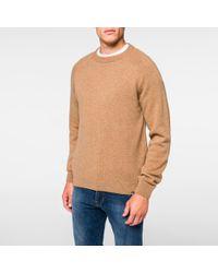 497a977eb03c7d Paul Smith - Multicolor Men's Camel Merino-wool Raglan Knitted Sweater for  Men - Lyst