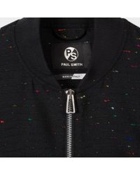 Paul Smith Women's Black Wool Bomber Jacket With Coloured Neps