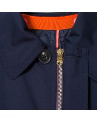 Paul Smith - Blue Men's Navy Loro Piana Storm System® Wool Mac With Detachable Liner for Men - Lyst