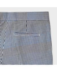 Paul Smith Women's Slim-fit Black And White Gingham Trousers