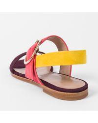 Paul Smith - Multicolor Women's Colour-block Suede 'rozelle' Sandals - Lyst