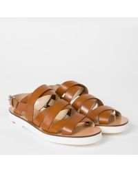 Paul Smith - Brown Women's Tan Leather 'rio' Sandals - Lyst