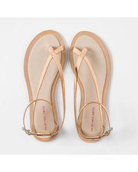Paul Smith Women's Metallic Bronze Leather 'lilja' Sandals
