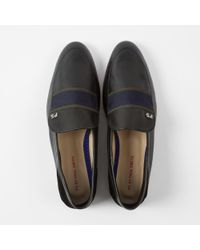 Paul Smith | Women's Black Leather And Suede 'freda' Loafers | Lyst