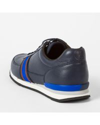 Paul Smith Blue Men's Navy Leather 'swanson' Trainers for men