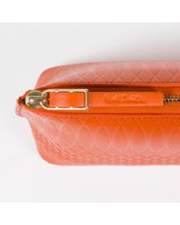 Paul Smith - No.9 Women's Burnt Orange Leather Make-up Bag - Lyst