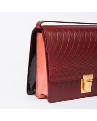 Paul Smith - Multicolor No.9 Women's Burgundy Leather Satchel - Lyst