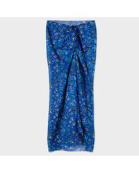 Paul Smith | Blue Women's Navy 'botanical Jungle' Print Cotton Sarong | Lyst