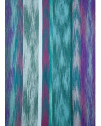 Paul Smith - Green And Purple Brush Stripe Silk-Blend Scarf - Lyst