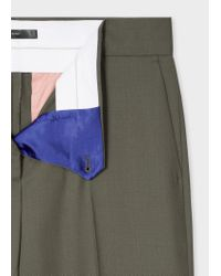 Paul Smith - A Suit To Travel In - Olive Green One-button Wool Suit - Lyst