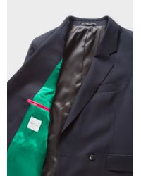 Paul Smith Blue A Suit To Travel In - Dark Navy Wool Double-breasted Blazer