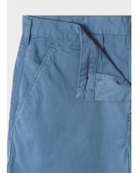 Paul Smith Blue Garment-dyed Stretch Pima-cotton Shorts for men