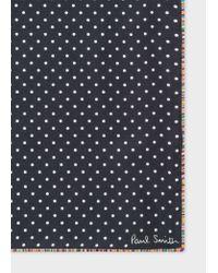 Pochette De Costume Noire À Pois En Soie Bordure 'Signature Stripe' Paul Smith pour homme en coloris Blue