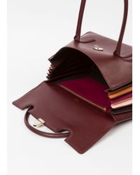 Paul Smith Multicolor Women's Burgundy 'concertina' Leather Handbag