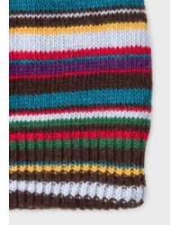 Paul Smith - Multicolor Men's Signature Stripe Wool-blend Beanie Hat for Men - Lyst