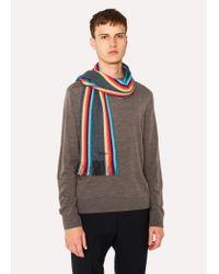 Écharpe Gris Anthracite Bandes 'Artist Stripe' En Laine Mérinos Paul Smith pour homme en coloris Multicolor