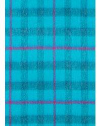 Écharpe Bleu Turquoise À Carreaux En Cachemire Paul Smith pour homme en coloris Blue