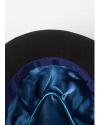 Paul Smith - Women's Black Wool Trilby With Pom-poms - Lyst