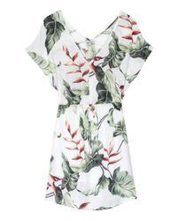 Rails White Wren Ivory Birds Of Paradise Dress