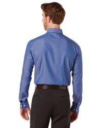 Perry Ellis - Blue Slim Fit Two Color Twill Dress Shirt for Men - Lyst