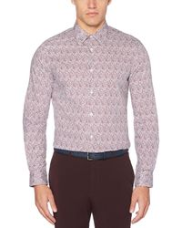 Perry Ellis Multicolor Resist Spill Floral Print Shirt for men