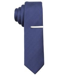 Perry Ellis | Blue Carlson Mini Tie for Men | Lyst