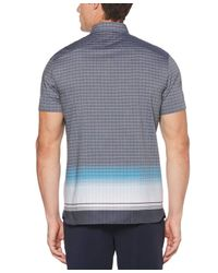Perry Ellis Blue Engineered Ombre Check Shirt for men