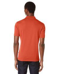 Perry Ellis | Orange Short Sleeve Textured Rib Polo for Men | Lyst