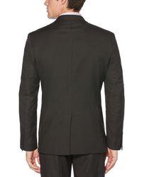 Perry Ellis Gray Heathered Stripe Suit Jacket for men