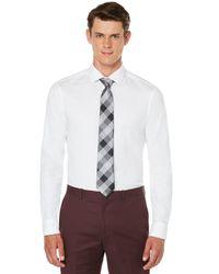 Perry Ellis - White Very Slim Solid Dobby Box Dress Shirt for Men - Lyst