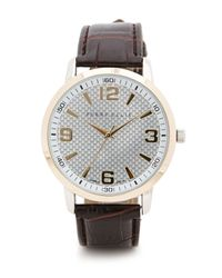 Perry Ellis | Brown Croc Band Watch for Men | Lyst
