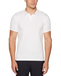 Perry Ellis White Short Sleeve Solid Polo for men