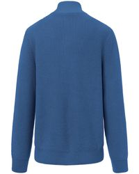 Louis Sayn Pullover Stehbund-Kragen blau in Blue für Herren