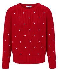 Le pull 100% coton encolure dégagée taille 48 Peter Hahn en coloris Red