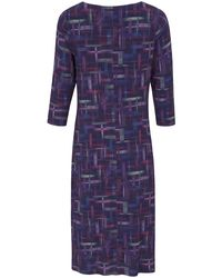 Uta Raasch Blue Jersey-Kleid 3/4-Arm mehrfarbig