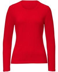 Peter Hahn Cashmere Red Pullover aus 100% premium-kaschmir