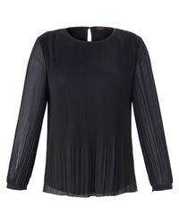 Emilia Lay Black Plissee-bluse