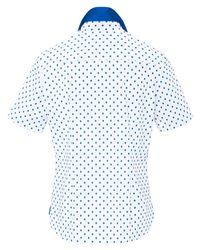Peter Hahn Blue Tupfen-bluse 1/2-arm größe