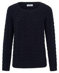 Peter Hahn Blue Rundhals-pullover aus 100% softwool