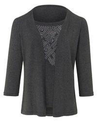 Peter Hahn Gray 2-in-1-shirt