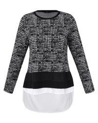 Le t-shirt manches longues taille 52 Emilia Lay en coloris Black