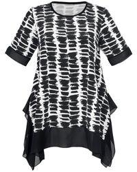 Emilia Lay Black Bluse 1/2-arm und rundhals-ausschnitt