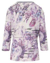 Dingelstädter Purple Pullover 3/4-Arm mehrfarbig