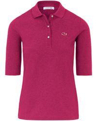 Le polo 100% coton modèle pf5381 taille 40 Lacoste en coloris Purple