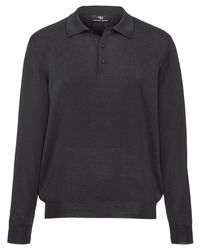 Peter Hahn Polo-pullover achim aus 100% schurwolle-merino in Gray für Herren