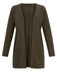 Emilia Lay Green Jersey-jacke reverskragen größe