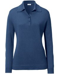 Peter Hahn Blue Polo-pullover modell pia
