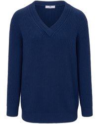 Peter Hahn Blue V-Pullover blau