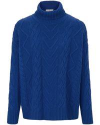 Peter Hahn Blue Rollkragen-pullover aus 100% schurwolle